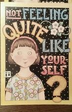 New Mary Engelbreit Not Feeling Like Your Old Self Get Well Card Orig Env