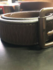 Mens Brown LEVIS Casual Leather Belt Size 40 Distressed