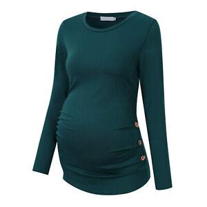 Pregnant Women T-Shirt Long Sleeves Top Maternity Nursing Casual Blouse Clothing