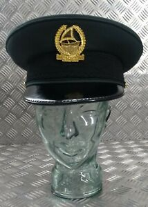 Genuine Dubai Police Major LT. Col Officers Dress Cap With Insignia Size 60