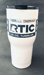 NEW RTIC 30oz Stainless Steel Tumbler White Double Wall Insulation