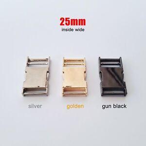Metal Bag Backpack Strap Webbing Belt Quick Side Release Buckle Clip Clasp Lock