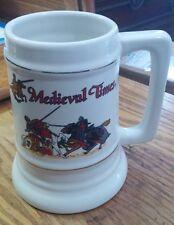 "Medieval Times Ceramic Mug Beer Stein Tankard 6"" Jousting Knights Florida Castle"