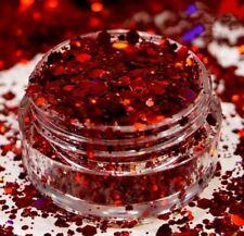 Xmas Christmas Mix Nail Art Glitter Mix Chunky Body Face Polish  Bright Pot