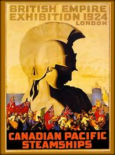 British Empire 1924 London Canadian Pacific Vintage Travel Advertisement Poster