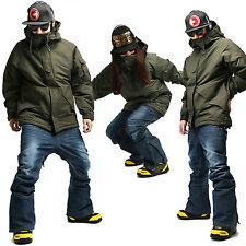 SOUTH PLAY Men Waterproof Ski Snowboard Jumper Jacket Pants Snow Suits KHAKI SET