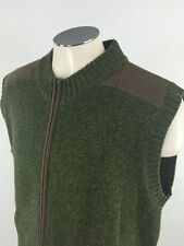 Cabellas Outfitter Series Full Zip Shooting Sweater Vest XL Hunting Shoulder Pad
