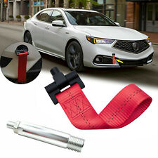 Red Front Bumper Sport Racing Style Towing Strap Tow Hook For Acura TLX 2015-18
