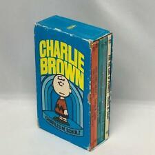 Vintage Charles Schultz CHARLIE BROWN Box Set of 5 Peanuts cartoon books Snoopy