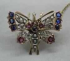 Diamond Silver Brooch/Pin Victorian Fine Jewellery