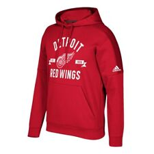 "Detroit Red Wings NHL Adidas Men's Red ""Misconduct"" Pullover Hoodie"