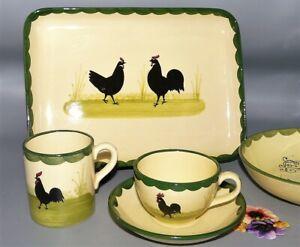 Zeller Keramik Hahn und Henne handbemalt  Teile zur Wahl