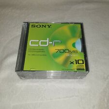x10 Sony 700MB 80 Min CD-R Pack - New and Sealed