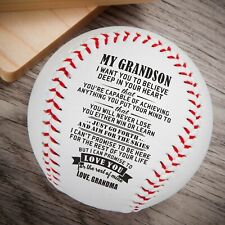 My Grandson Love From Grandma Engraved Baseball Gift Anniversary Birthday Ball