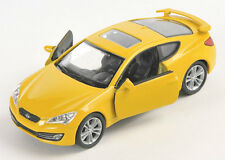 BLITZ VERSAND Hyundai Genesis Coupe floridagelb Welly Modell Auto 1:34 NEU & OVP