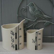 Black & White Measure Handmade Porcelain Small Jug Set of Two