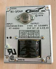 Condor B5-3/OVP  5 VDC 3.0A Power Supply New input 115V/230V ac