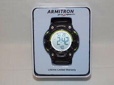 Armitron Men's Sport Digital Chronograph Black Nylon Strap Watch 40/8435 NIB