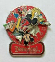 Disney Pin Badge Disneyland 2012 - Mickey Minnie Donald Goofy - Spinner