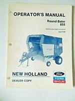 New Holland Round Baler 855 Operators Manual Dealer Copy