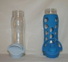 LifeFactory 22 oz with Flip Cap Glass Water Bottle Ocean Silicone Sleeve-Extras