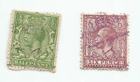 GB 1912 -1913 King George V 6d + 1/2d- used .s*