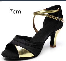 Women New Latin Dance Shoes Heeled Tango Ballroom Girls Salsa Soft  shoe uk 3