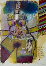 """Theo Tobiasse """"Jerusalem roule dans ma gorge, Comme un oeuf lore'l' Temour"""" Art"""