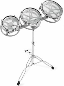 """NEW - Ashthorpe Roto Tom Drum Set with Stand - 6"""", 8"""", 10"""" Toms with Remo Heads"""
