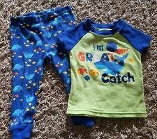 Boys 12 Month 2-Piece Snug Fitting Pajamas I'm A Great Catch Fish Shark