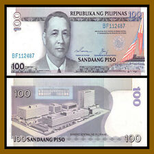 Philippines 100 Piso, ND 1987-1994 P-172 Blue Serial Number Unc