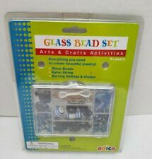 Girl Glass Beads Set Arts & Craft Set Make Create Jewelry Necklace Earring New
