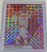 2019-20 Panini Mosaic Russell Westbrook PINK PRIZM Houston Rockets #134 SP 🔥