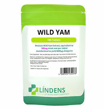 Wild Yam Tablets 100 x 500mg Lindens Menopause Hormones IBS Cramps Supplements