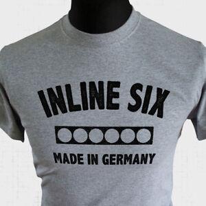 Inline Six T Shirt Made In Germany BMW M2 M3 M4 Retro Performance Car Grey