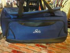 Skyway blue black rolling travel luggage duffle bag