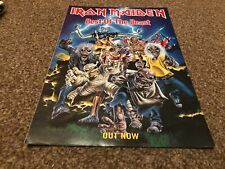 "(BEBK59) ADVERT/POSTER 11X8"" IRON MAIDEN : BEST OF THE BEAST OUT NOW"