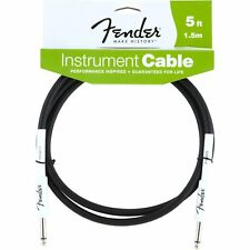 Fender FG05 Performance Series Guitar Bass Cable 5' Black Rubber