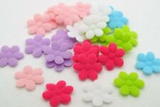 180 Mixed 22mm Padded Felt Flower Appliques for Cardmaking DIY