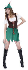 Ladies Sexy Robin Hood Fancy Dress Costume Womens Outfit UK 10-14
