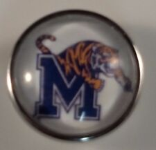 MEMPHIS Snap College Sports Button Jewelry 18mm University Fits Ginger Snaps