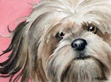 LHASA APSO DOG Watercolor OVERSIZED ART Print SignedDJR