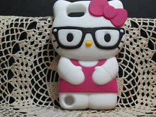For Apple IPod Touch 5 5th Generation 3D Hello Kitty Glasses Case Cover - Rose