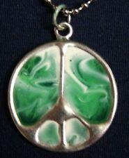 Sherbet Peace Sign pendant (green)