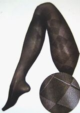 Berkshire Premium Trend Benefits Argyle Black Pantyhose Queen Size 3X-4X