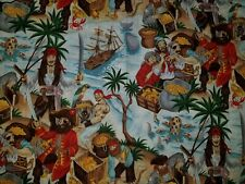 CUSTOM PIRATES OF THE CARIBBEAN JACK TREASURE ISLAND WHITE BATH HAND TOWEL SET 2