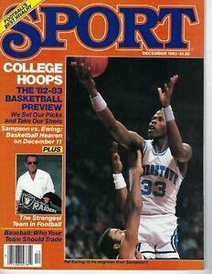 1982 Sport Magazine basketball Patrick Ewing, Georgetown Hoyas Michael Jordan VG