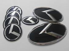 7pcs 1set black K logo badge emblem 3d sticker for KIA OPTIMA K5 2011-2017