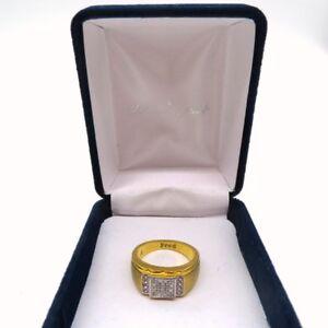 The Danbury Mint Mens Size 8 Gold Ring