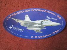 AUTOCOLLANT STICKER DASSAULT AVIATION MIRAGE 2000-5 FARNBOROUGH 1996